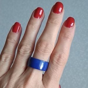 Size 8 Ceramic Wide Band Ring